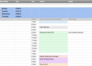 Top 8 Best Schedule Templates for Excel – TemplateGuider
