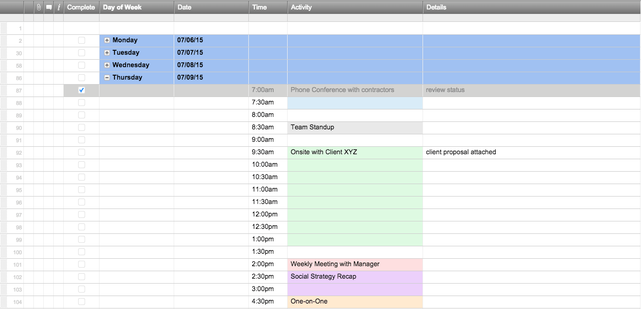 Best Schedule Templates