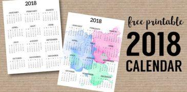 Top 10 Free Printable Calendar templates