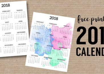 Top 10 Free Printable Calendar templates