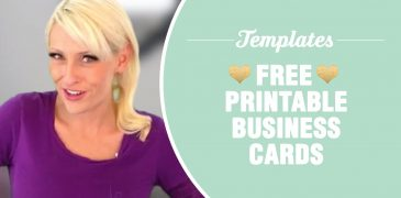 Free, Premium Printable Business Card Templates