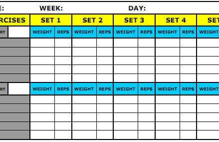 8 Best Workout Log Templates For Excel And Word Templates Guider