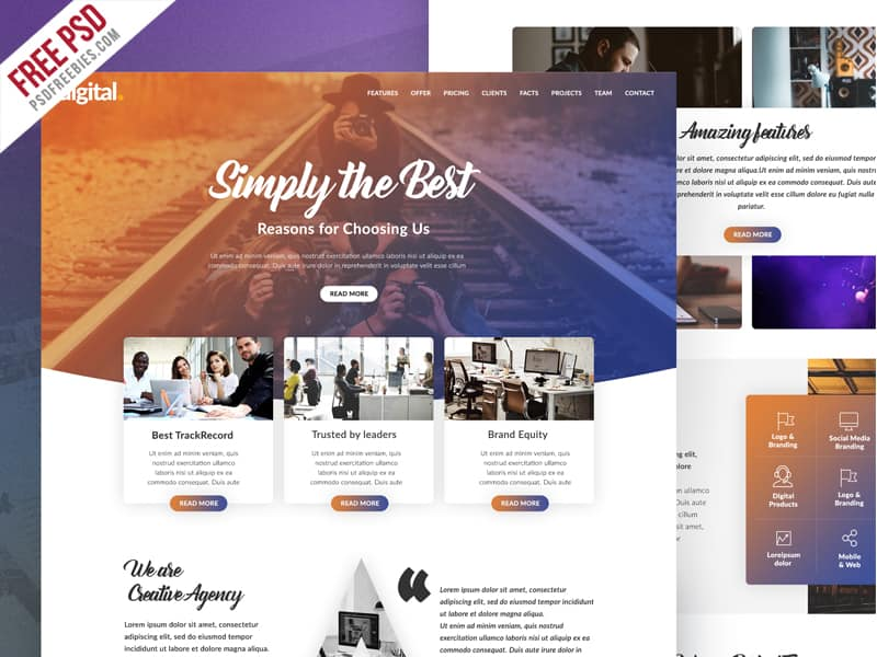 Free PSD Website Design