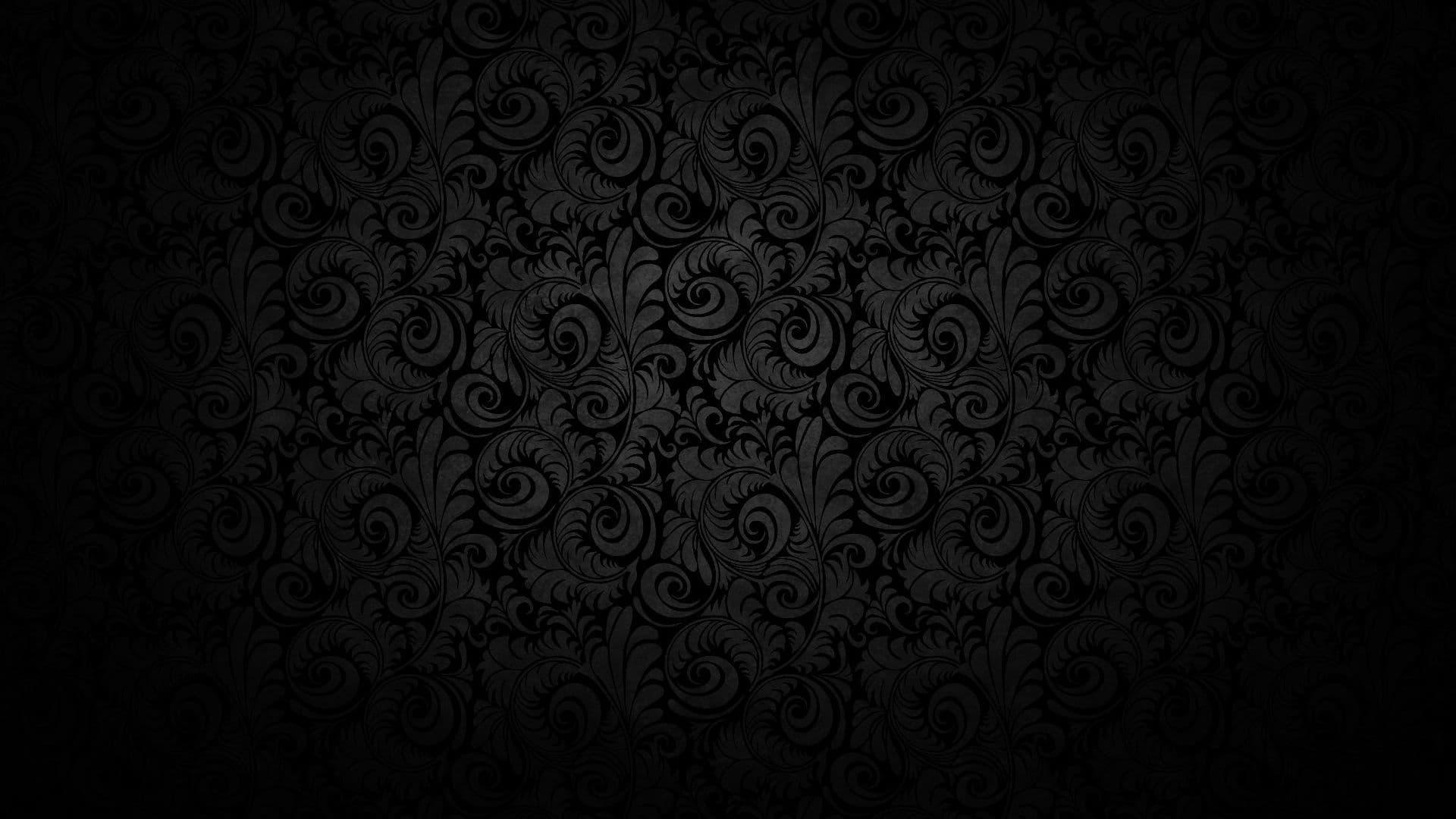 Black pattern texture