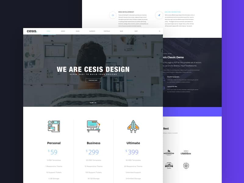 Cesis – Creative Agency PSD Web Template