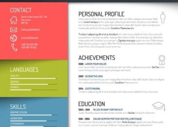 Colorful & Creative Resume template