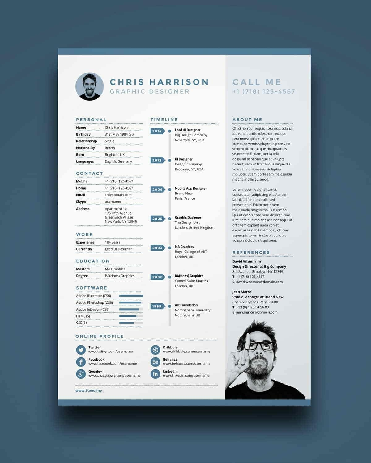 Free & Clear Resume Template