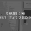 Best Attractive Free Resume Templates for Graphic Designers