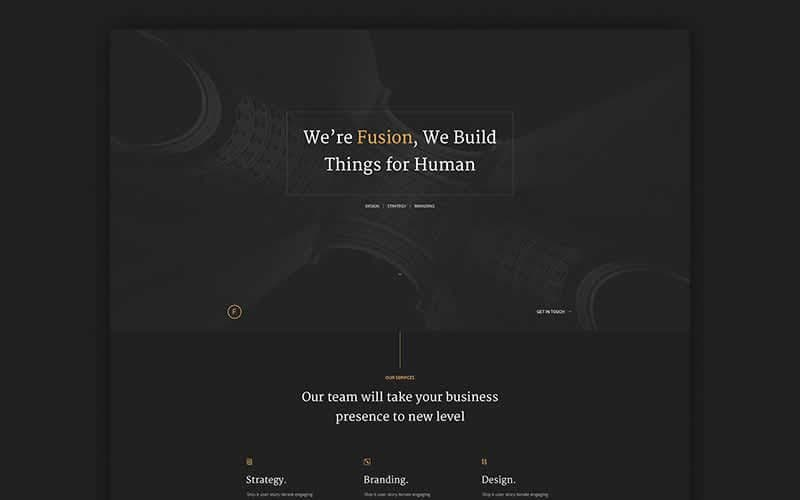 Fusion – Dark Portfolio PSD Template