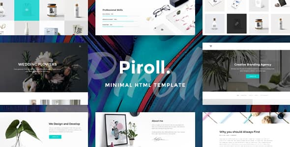 Piroll – Design Agency or Portfolio PSD Templates