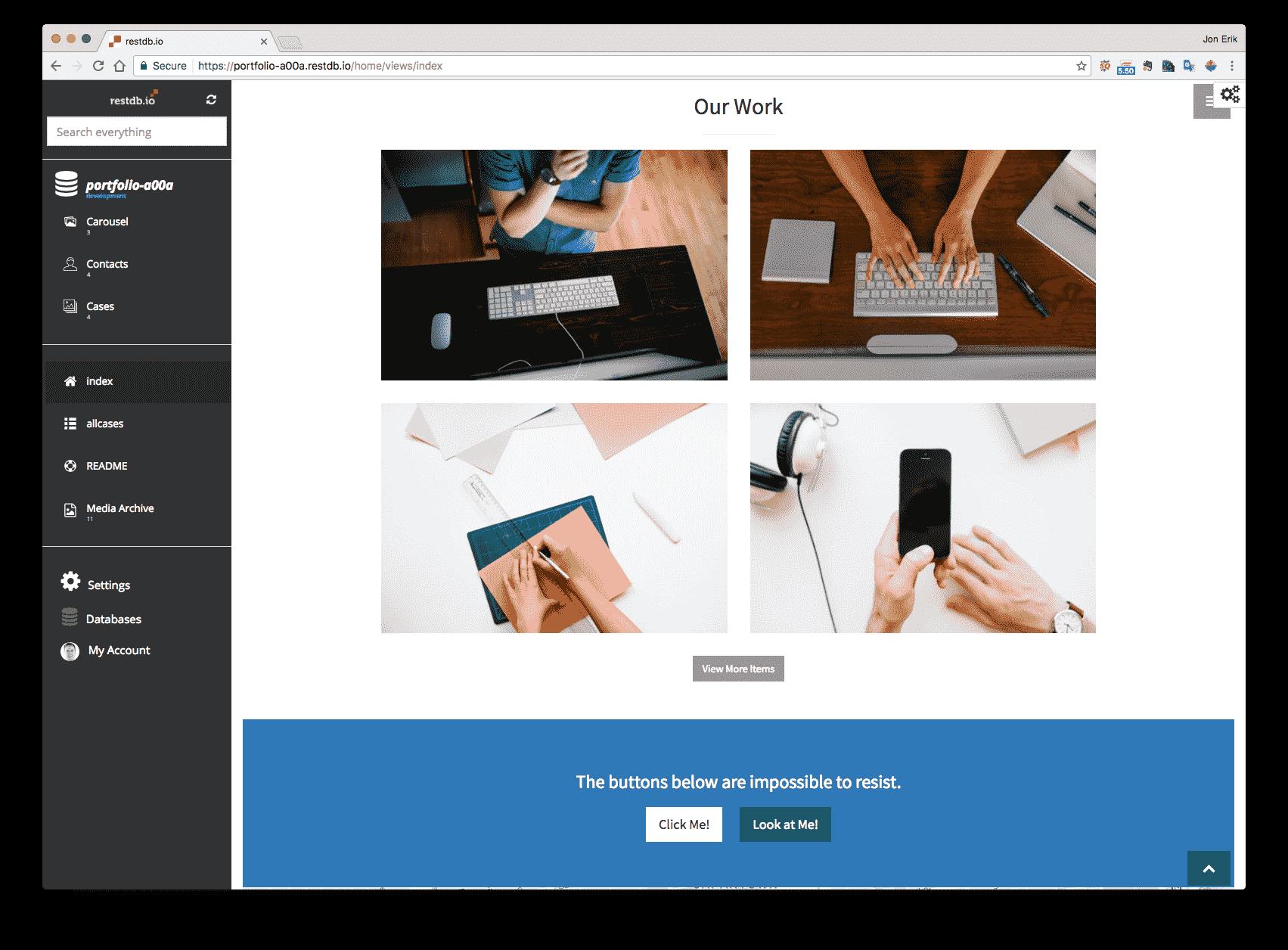Portfolio Item Bootstrap Templates