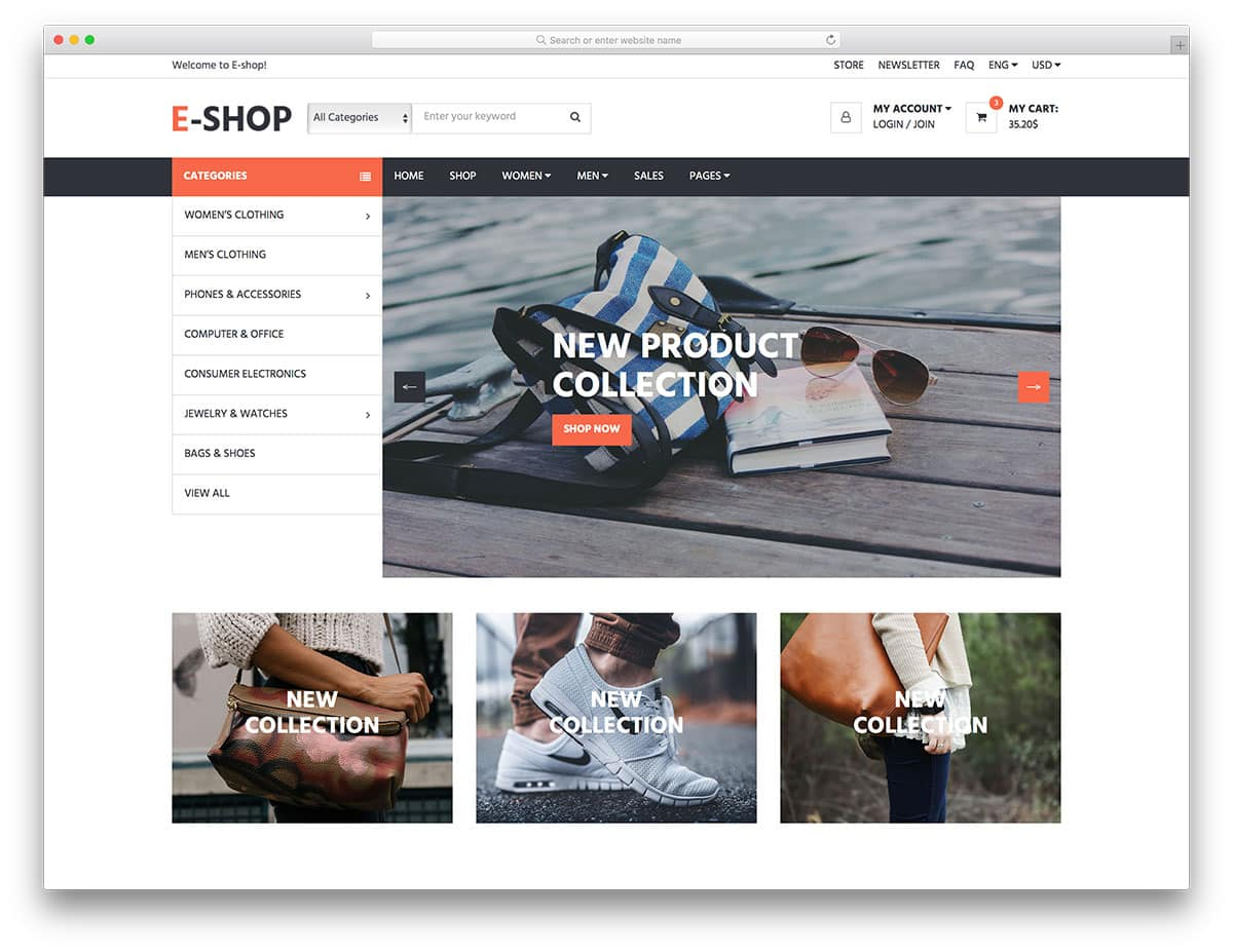 Shop Homepage Bootstrap Templates