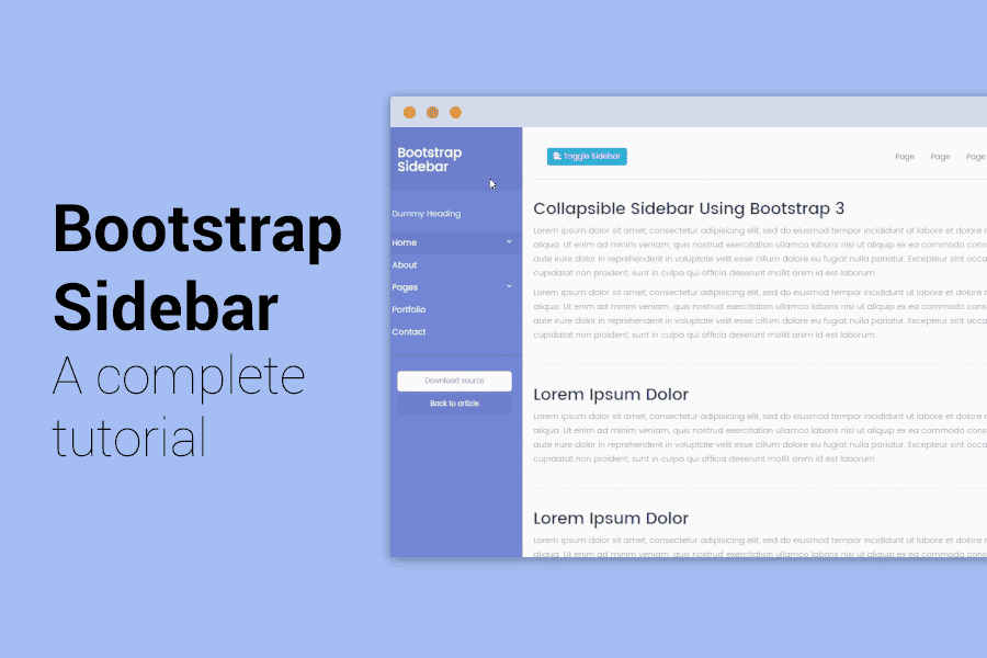 Simple Sidebar Bootstrap Templates