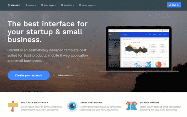 Small Business Bootstrap Templates