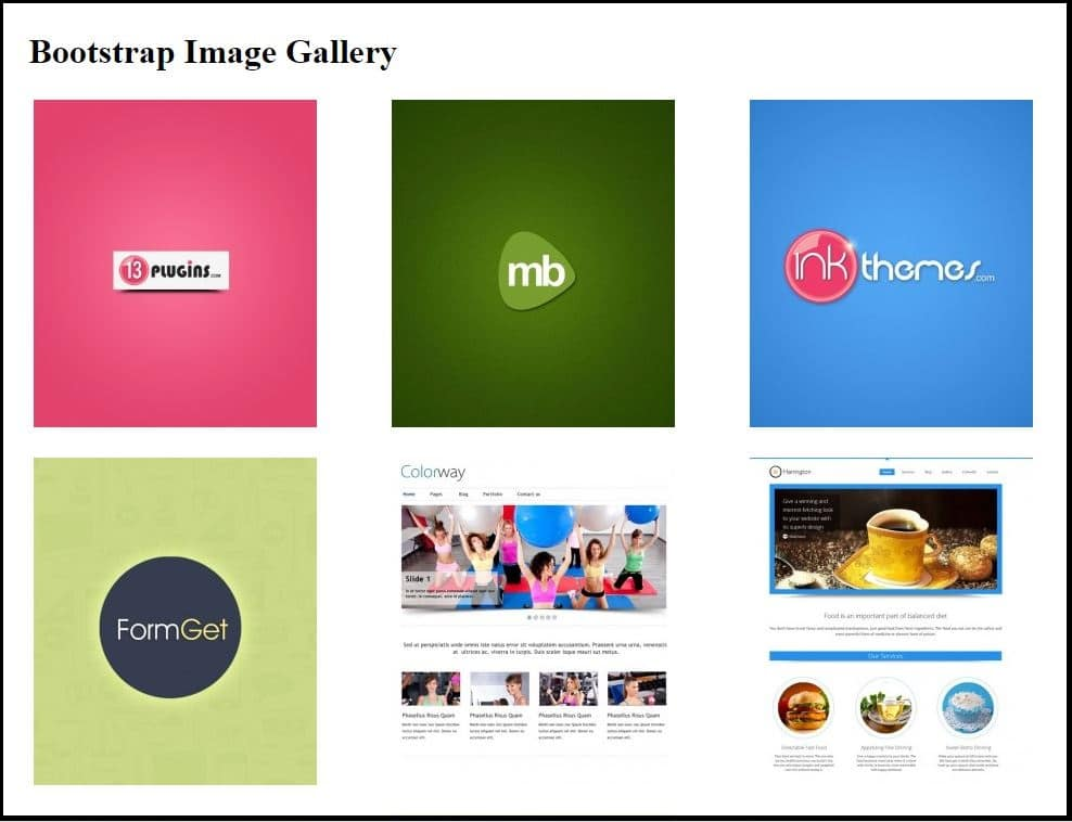 Thumbnail Gallery Bootstrap Templates