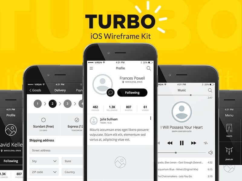 Turbo iOS Wireframe