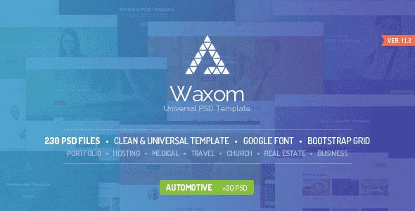 Waxom PSD Template