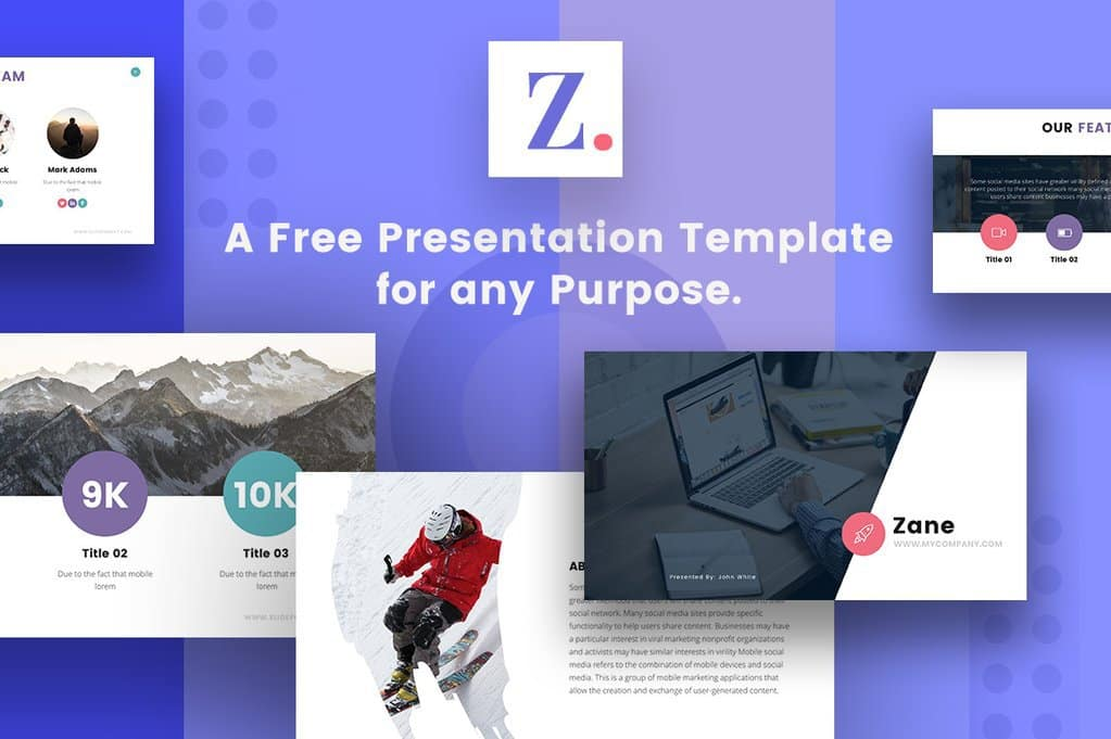Zane Keynote Templates
