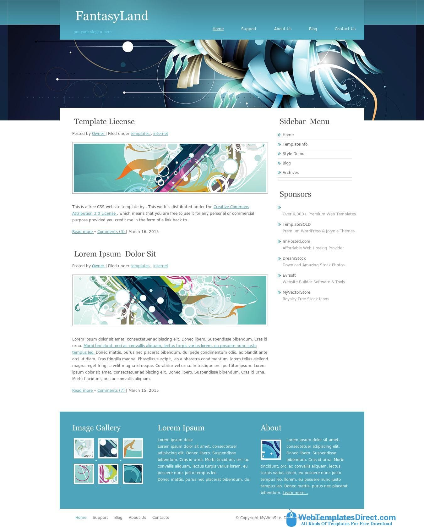 FantasyLand Website Template