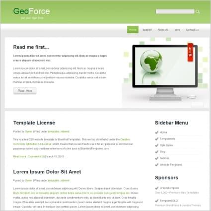 GeoForce Website Template