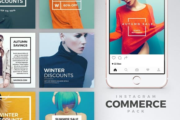 Instagram Commerce Pack Templates