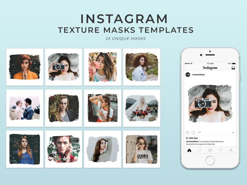 Instagram Photo Masks Templates
