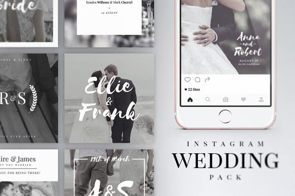 Instagram Wedding Pack Templates