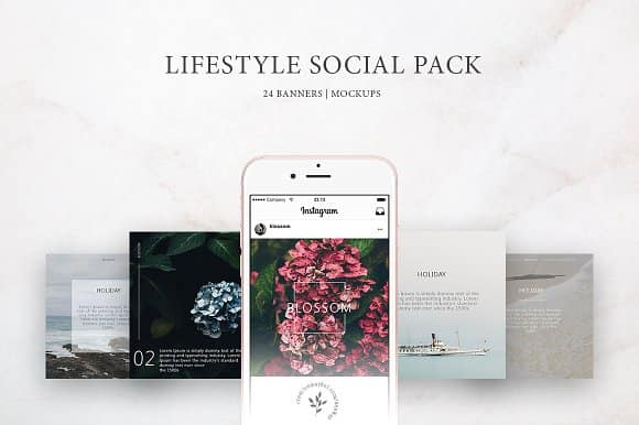 Lifestyle Social Pack templates
