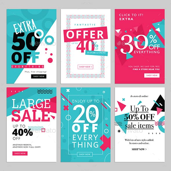 Social Media Promotional banners Templates
