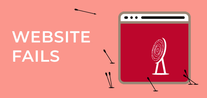 Five Typical Website Fails